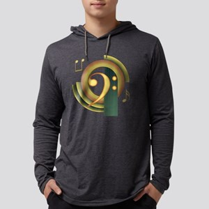 Bass Clef Deco Long Sleeve T-Shirt
