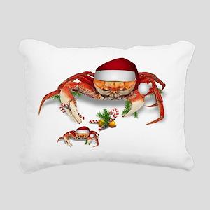 Christmas Crab Rectangular Canvas Pillow