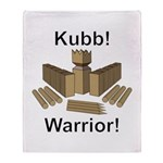 Kubb Warrior Throw Blanket
