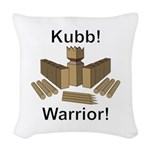 Kubb Warrior Woven Throw Pillow