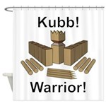 Kubb Warrior Shower Curtain