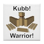 Kubb Warrior Tile Coaster