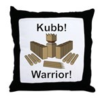 Kubb Warrior Throw Pillow