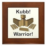 Kubb Warrior Framed Tile