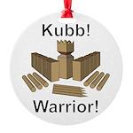 Kubb Warrior Round Ornament