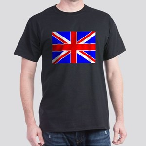 United Kingdom Flag Black T-Shirt