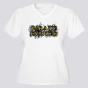 Pirate Hunter Women's Plus Size V-Neck T-Shirt