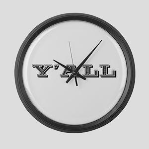 Yall Southern Large Wall Clock