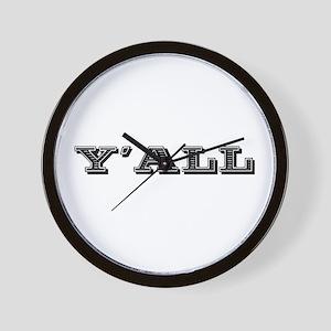 Yall Southern Wall Clock