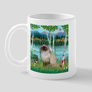 Birches / Himalayan Cat Mug