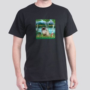 Birches / Himalayan Cat Dark T-Shirt