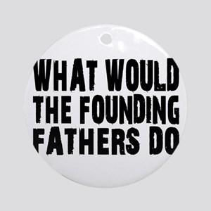 Founding Fathers Ornament (Round)