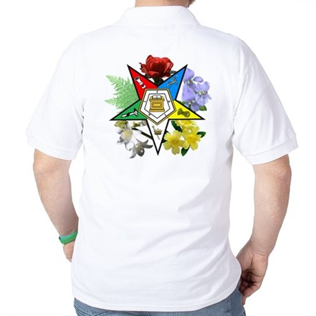 OES floral (on back) Golf Shirt