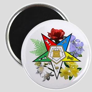 Eastern Star Floral Magnet