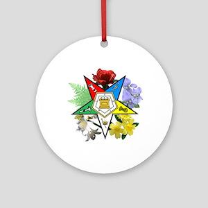 Eastern Star Floral Emblems Ornament (Round)