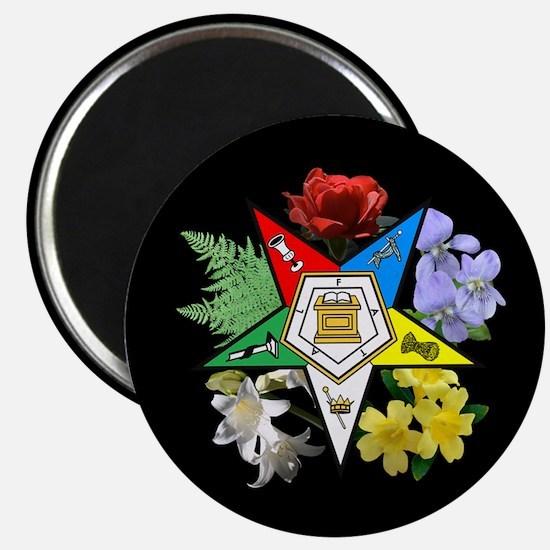 Eastern Star Floral Emblem - Magnet