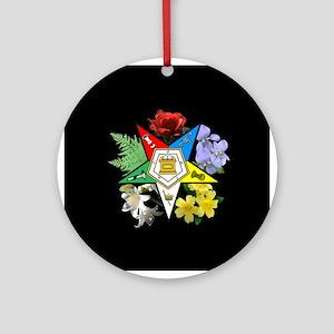 Eastern Star Floral Emblem - Ornament (Round)
