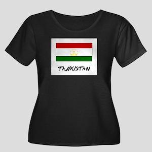 Tajikistan Flag Women's Plus Size Scoop Neck Dark