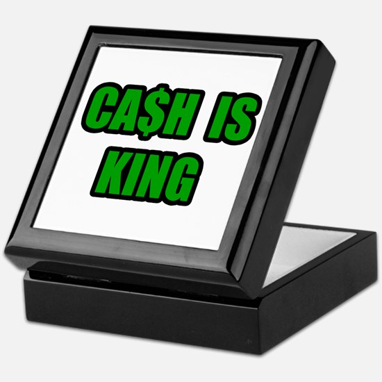 """Cash Is King"" Keepsake Box"