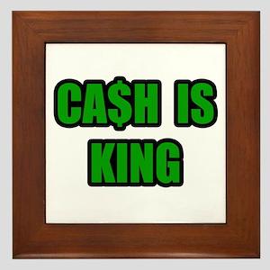 """""""Cash Is King"""" Framed Tile"""