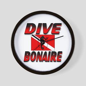 Dive Bonaire (red) Wall Clock