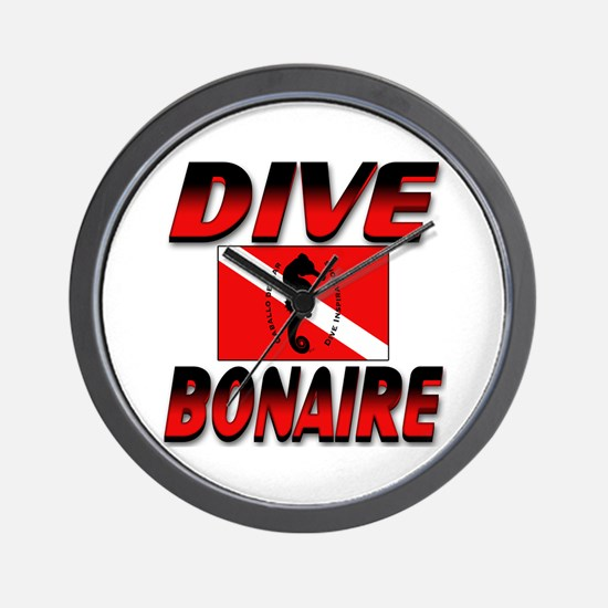 Dive Bonaire (red) Wall Clock