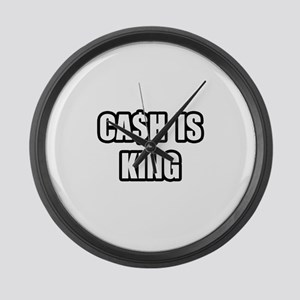 """Cash Is King"" Large Wall Clock"