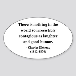 Charles Dickens 13 Oval Sticker