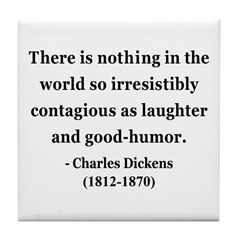 Charles Dickens 13 Tile Coaster
