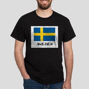 Sweden Flag Dark T-Shirt
