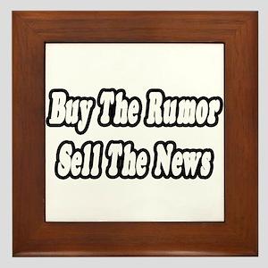 """""""Stock Market Advice"""" Framed Tile"""
