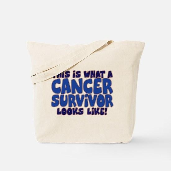 CANCER SURVIVOR (BLUE) Tote Bag