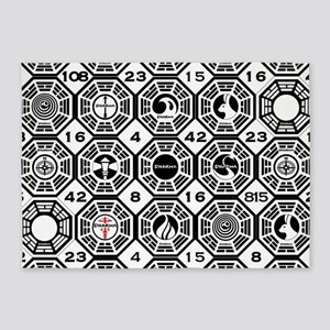 Dharma Stations with The Numbers 5'x7'Area Rug