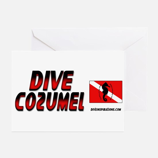 Dive Cozumel (red) Greeting Cards (Pk of 10)