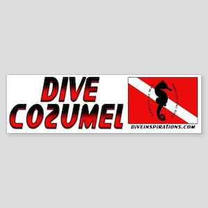 Dive Cozumel (red) Bumper Sticker