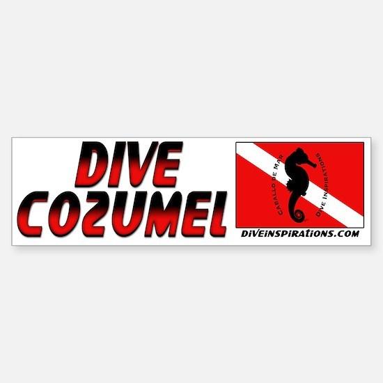 Dive Cozumel (red) Bumper Bumper Bumper Sticker