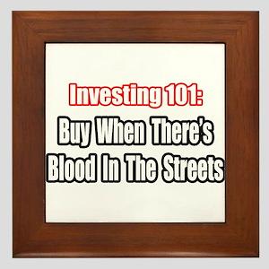 """Blood In The Streets...Buy"" Framed Tile"