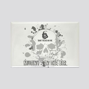 Mutiny's In The Air (Gray) Rectangle Magnet