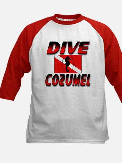 Dive Cozumel (red) Kids Baseball Jersey
