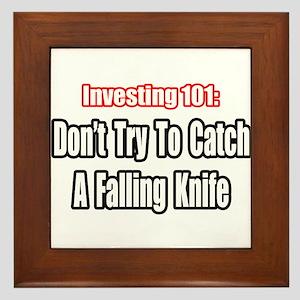 """Catch a Falling Knife"" Framed Tile"