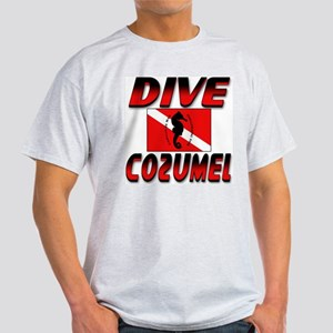 Dive Cozumel (red) Ash Grey T-Shirt