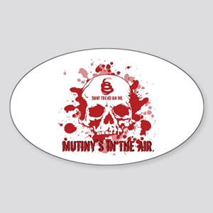 Mutiny's In The Air (Red) Oval Sticker
