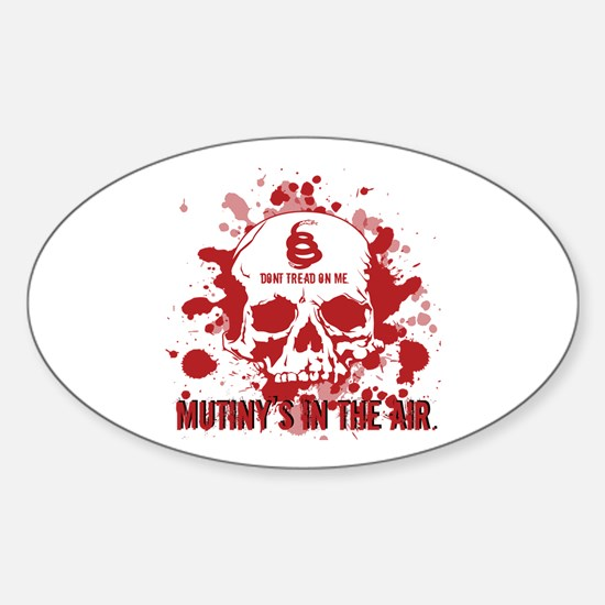 Mutiny's In The Air (Red) Oval Decal