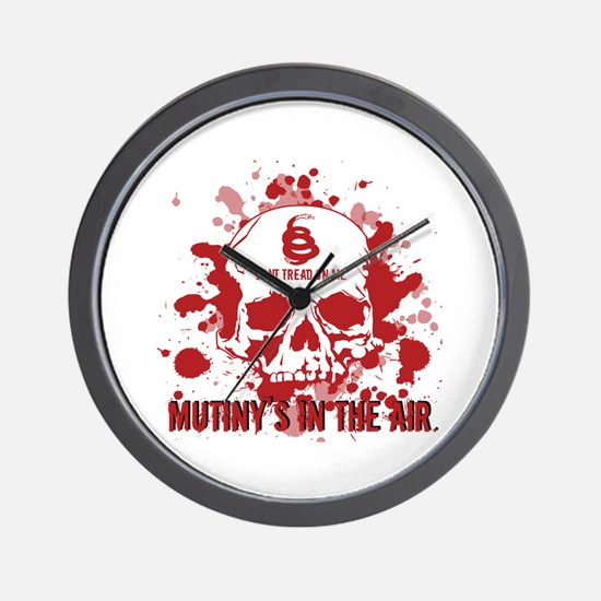 Mutiny's In The Air (Red) Wall Clock