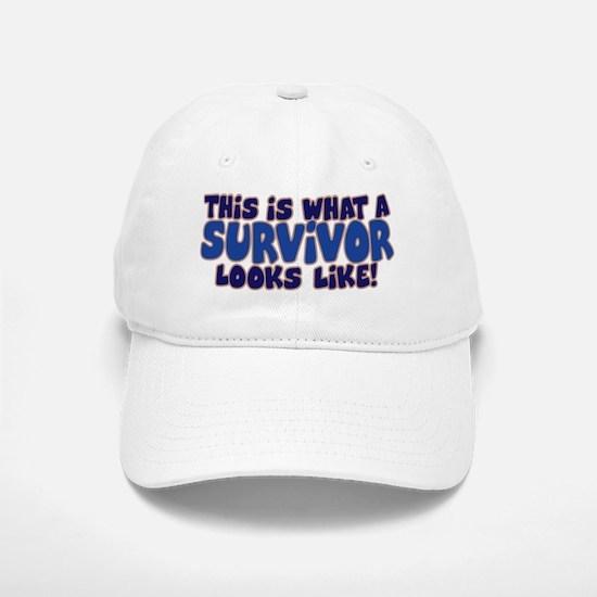 WHAT A SURVIVOR LOOKS LIKE Baseball Baseball Cap