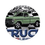 Green Truck Round Ornament