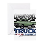 Green Truck Greeting Cards