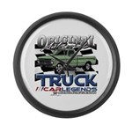 Green Truck Large Wall Clock