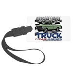 Green Truck Luggage Tag