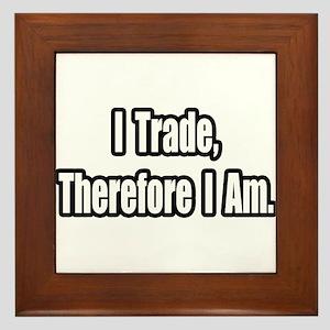 """""""Stock Trading Philosophy"""" Framed Tile"""